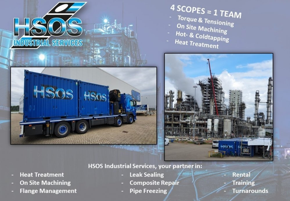HSOS-Industrial-Services-Turnaround-voor-raffinaderij-en-contractors-torque-en-tensioning-on-site-machining-hot-en-coldtapping-heat-treatment-warmtebehandeling